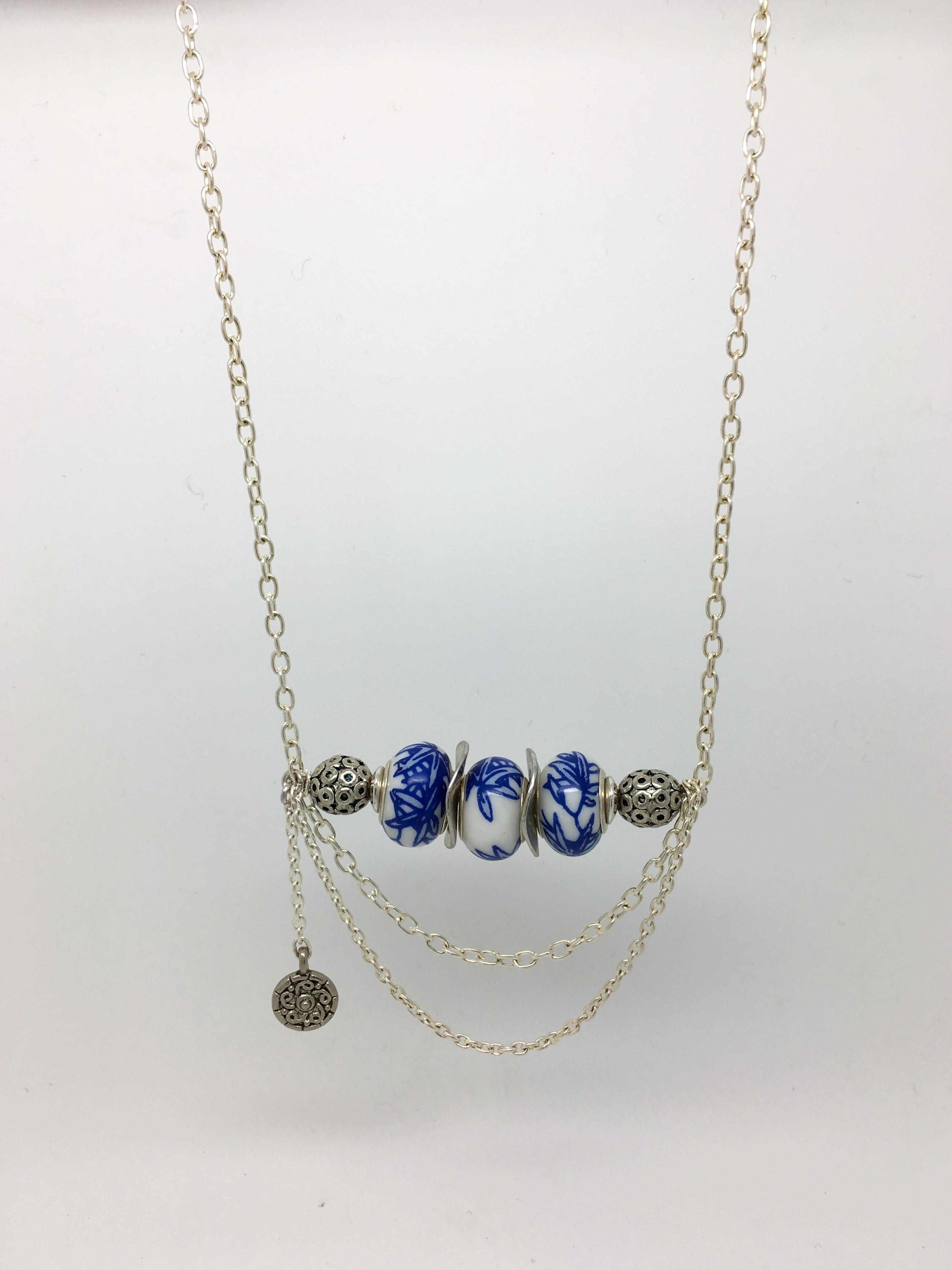 Collier perle de c ramique bijoux et d coration atelier for Perle decoration